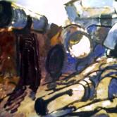 Figure in landscape