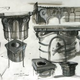 Designs for Wellhead (Cast Lead) Cayzer Courtyard, Lees Court Mansion, Kent