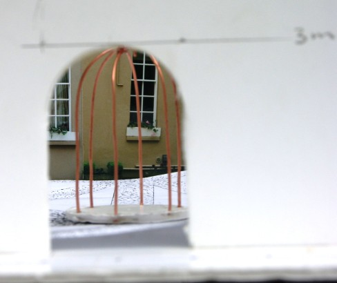 Model for Cayzer Courtyard, Lees Court Mansion, Kent