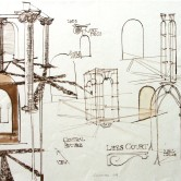 Drawings for Cayzer Courtyard Welded Arch Feature Design, Lees Court Mansion, Kent