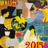 Study for Kent Science Park 70 years commemorative painting. Collection Mr James Speck