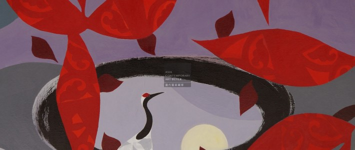 Purchase Pale Moon with Crane from Nadine Fine Art via Asia Contemporary Art Buyer